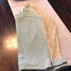 Maurice's Sweatshirt w/ lace and tie back